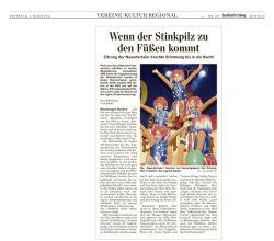 Bericht der Saarbrücker Zeitung über die Neandertaler-Kappensitzung 2011